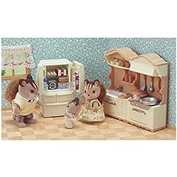 SYLVANIAN FAMILIES-La Cuisine aménagée Mini-poupées et Accessoires, 5341, Multicolore