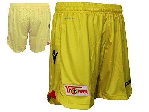 Macron 1.FC Union Berlin Kinder Alternativ Short gelb FCU Spielerhose Fußballhose, Größe:116