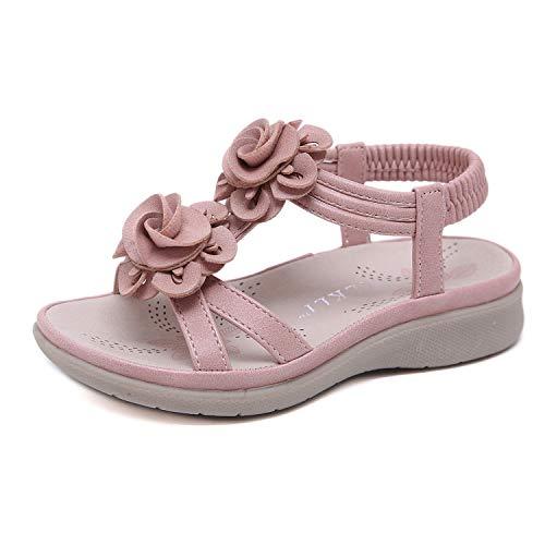 Sandalen Kinder, Schöne Baby Mädchen Sandalen Römische Sandalen Prinzessin Schuhe Mode Kinder Nette Schuhe Sommer Casual Sandalen, Rosa Innenlänge 17,6 cm = 25EU - Käfig Prinzessin