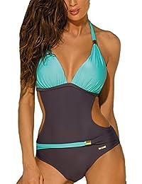 vendite calde b7792 f053b Amazon.it: Verde - Costumi interi / Mare e piscina ...