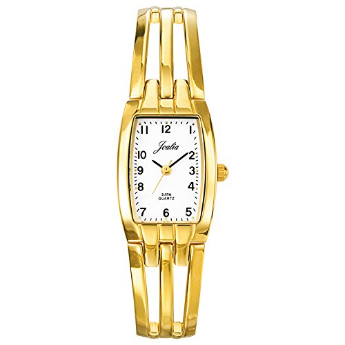 Certus 631473-Women's Quartz Analogue Watch-White Face-Golden Metal Bracelet