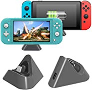 Charging Dock for Nintendo Switch Lite and Nintendo Switch, Compact Charging Stand Station with Type C Port Co