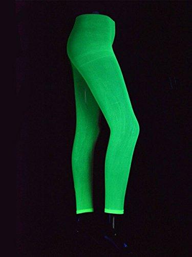 Schwarzlicht Leggings Neon Grün