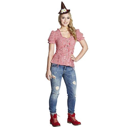 Rubies Damen Trachten Bluse, Größe:40;Farbe:mehrfarbig
