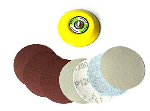 30ps 75-80mm Sander Disc Schleifscheibe Grit 800/1000/1200/1500/2000/3000 Papier mit 1pcs 6mm Schaft 3 Zoll Schleifpolitur Pad Platte für Rotierende Elektrische Grinder - Disc Sander
