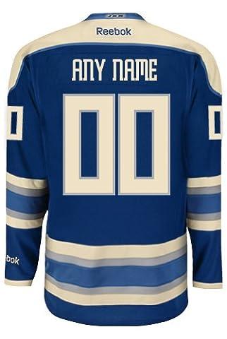 Columbus Blue Jackets Troisième officielle Reebok NHL hockey Jersey–n'importe quel nom/numéro personnalisée., Enfant Homme,