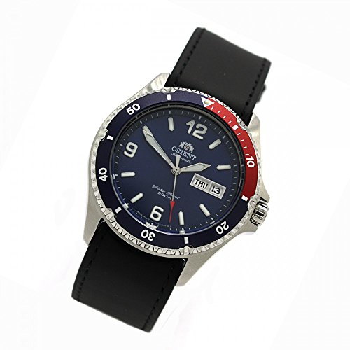 Orient 5 Deep Automatic Day Date Men's Mako II Diver Watch – Leather FAA02009D