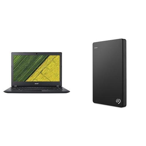 Acer Aspire ES 11.6-Inch Notebook (Intel Celeron N3350, 2 GB RAM, 32 GB eMMC, Intel HD Graphics 500, Windows 10 Home) + 1TB Seagate Backup Plus Slim External Hard Drive