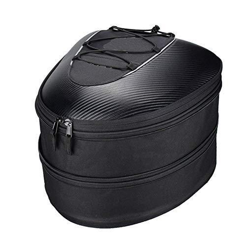 AIURBAG Pacchetto Coda Moto/Borsa da Viaggio,Borse per Casco Impermeabile Multifunzionale Sacchetto di immagazzinaggio del Sedile Posteriore del Motociclo Zaino da Equitazio
