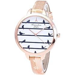 HARRYSTORE Women Casual Vintage Sports Date Analog Quartz Watch Leather Band Wrist Watch
