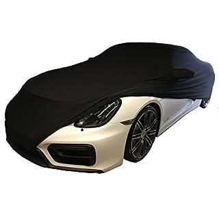 LEDmich Super-Soft Indoor Car Cover Auto Schutz Hülle für Porsche 911/992 / 991/997 Carrera / 996 4s GTS/Turbo Abdeckung Stoff schwarz Abdeckplane