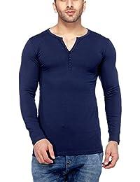 Tinted Men's Cotton Lycra Henley T-Shirt