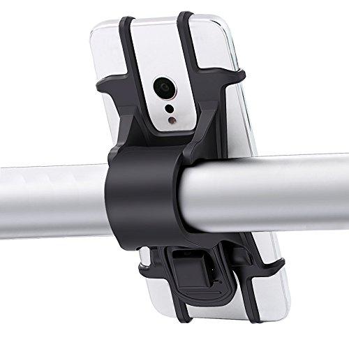 Karrong Handyhalterung Fahrrad Universal für Alle Smartphones mit 4-6 Zoll Bildschirm, Silikon Verstellbar Handyhalter Handy-halter Handy Halterungen für Fahrrad Motorrad Rennrad Mountainbike