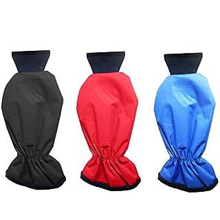 Kimmyer 3er Pack Eiskratzer für Auto, Eisschaufelhandschuhe Windschutzscheibe schneiende Handschuhe wasserdichter Warmer Handwärmer für Windschutzscheibe;