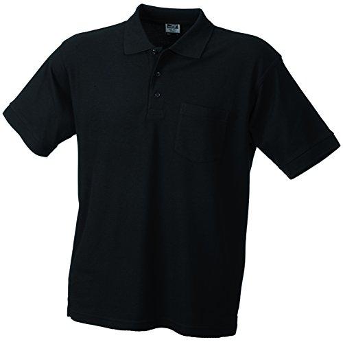 Herren Polohemd mit Brusttasche Black