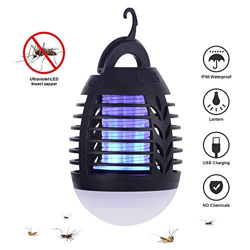 KEY NICE 2 in 1 Wirksam Moskito Killer & Wasserdicht Campinglampe Insektenvernichter Tragbare USB Aufladbare Insektenschutz für Hauptkampierende Reise