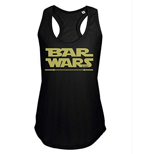 GO HEAVY Racerback Tank Top Para Mujer - Bar Wars - Negro M