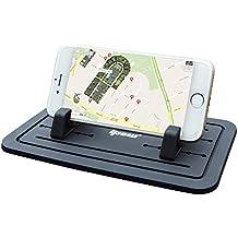 Ipow® Soporte Para Coche, Soporte Silicona Antideslizante Para Salpicadero De Coche Para Los Smartphone Samsung S5/S4/S3/iPhone 4/5/5s/6/6S(plus) y GPS, Color Negro