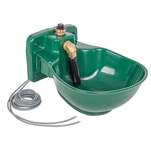 VOSS.farming beheizte Tränke Thermo P25-24V, 30 Watt, 24V, automatisches Thermostat, Spezialkunststoff, Frostschutz Pferde Rinder Pferdetränke Rindertränke Selbsttränke