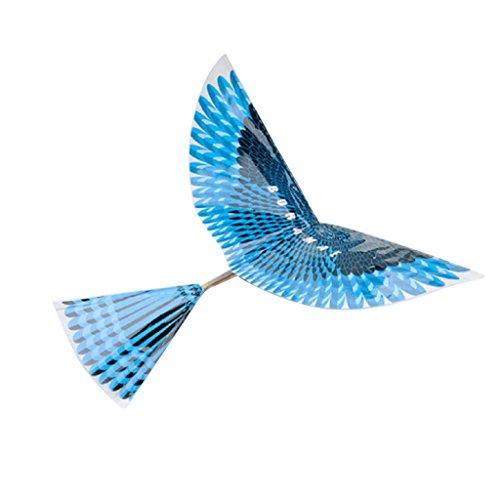 Homyl DIY Gummiband Flugzeug Ornithopter Vogel Drachen Kinderdrachen Außenspielzeug Geschenke (Flugzeug Gummiband Starten)
