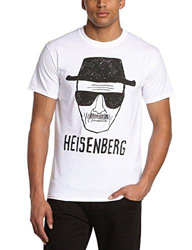 Coole-Fun-T-Shirts Herren T-Shirt Heisenberg Zeichnung - Breaking Bad, Weiß, L, FT303 4-serie Dome