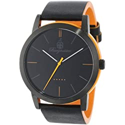Burgmeister Ibiza Men's Quartz Watch with Black Dial Analogue Display and Black Leather Strap BM523-620B-1