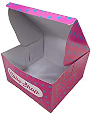 SPP Pink & Blue Printed Cake Packaging 10 x 10 x 6.5 Inch 10 Boxes Cake, Pastry