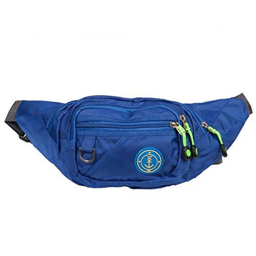 Bauchtasche | Gürteltasche | Große Hüfttasche für Damen, Herren oder Kinder | Outdoor & Festival Brustbeutel aus Nylon | einfarbig | 5 verschiedene Farben