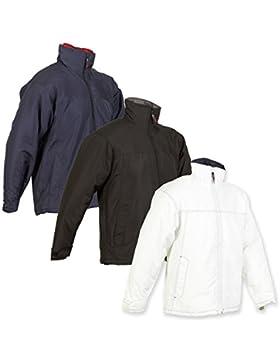 Mens al aire libre nosotros Basic Orlando chaqueta abrigo, Navy/Red, Large