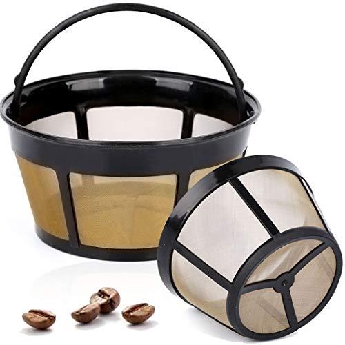 Taktik - Paquete de 2 canastas Reutilizables Filtro de café Filtro de Oro para la mayoría de Las máquinas...