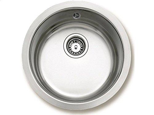 Teka ERC Rundbecken Edelstahl-Spüle poliert Küchenspüle Auflage Einbau Spüle 45er Unterschrank