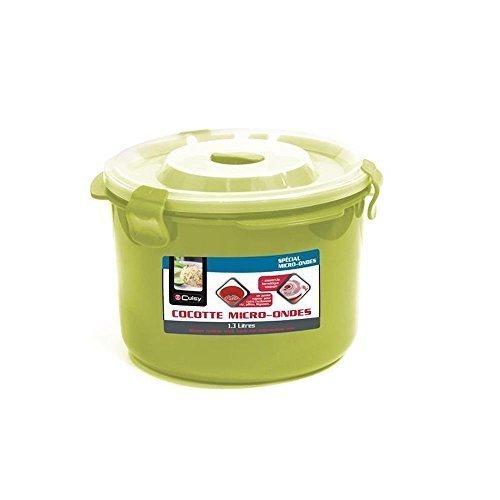 Dampfkochtopf Dampf Speziell Mikrowelle Deckel Hermetische mit Ventil 1,3 Liter - Anis (Mikrowellen-dampfgarer Für Reis)