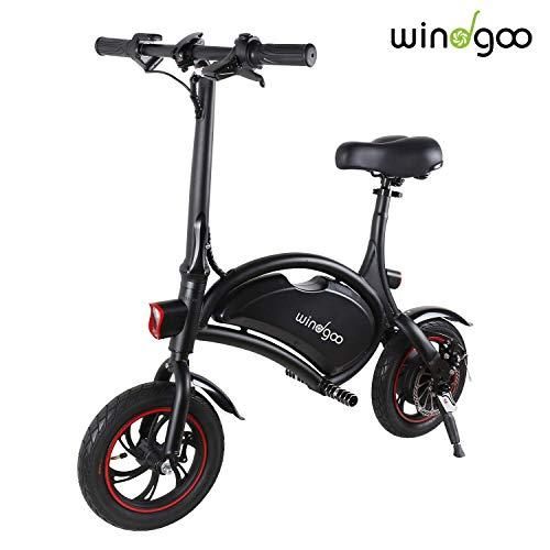 Windgoo Vélo Électrique Pliant, 12' City E-Bike Adulte Pliant, Puissant Moteur 350W, Vitesse jusqu'à 25 km/h, 15km la Longue Portée, 36V 6.0Ah Batterie Lithium Rechargeable