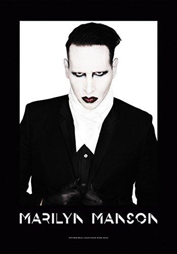 Heart Rock Licensed Bandiera Marilyn Manson - Proper, Tessuto, Multicolore, 110X75X0,1 cm