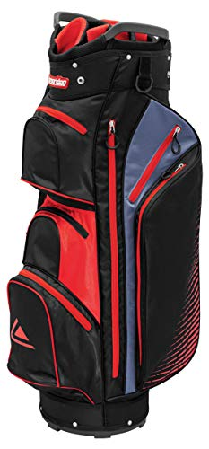 LONGRIDGE Unisex-Adult Executive Cart Bag, schwarz/rot, ONE Size (Golf-cart-zubehör-tasche)