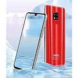 TEENO Smartphone Portable Débloqué 4G 6.2' HD écran 3Go RAM 32Go ROM (Android - Double SIM - Une Caméra - Quad Core) (Rouge)