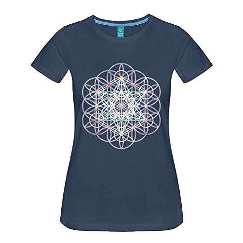 Blume des Lebens Metatronwürfel Frauen Premium T-Shirt von Spreadshirt®, S,