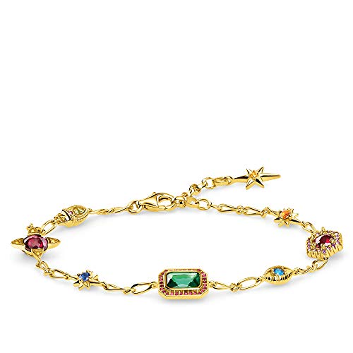 THOMAS SABO Damen Armband Glücksbringer Gold 925 Sterlingsilber, 750 Gelbgold Vergoldung A1914-973-7