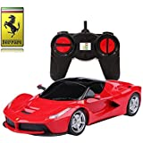 Playtech Logic Ferrari LaFerrari Remote Control Car – 1:24 Scale Ferrari Model – PL613 Official Ferrari F150 Electric RC Remote Control Cars – Ready to Run, EP – Red, Yellow