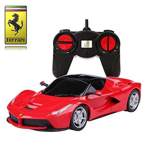 Ferrari LaFerrari Remote Control Car � 1:24 Scale Ferrari Model � PL613 Official Ferrari F150 Electric RC Remote Control Cars � RTR, EP � (Red) 27Mhz
