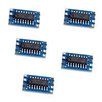 CHANNIKO-UK 5Pcs RS232 To TTL MAX3232 Converter Adaptor Module Serial Port Mini Board Performance Portable Size