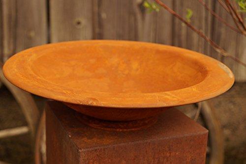 Dekostüberl Edelrost Schale mit breitem Rand Pflanzgefäß Gartendekoration Metall - Breite Schale