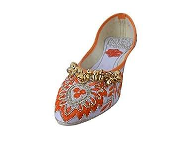 kalra Creations Chaussures de indien traditionnel fait main Étui avec broderie Groom pour femme - multicouleur - Multi-color, 35,5 EU