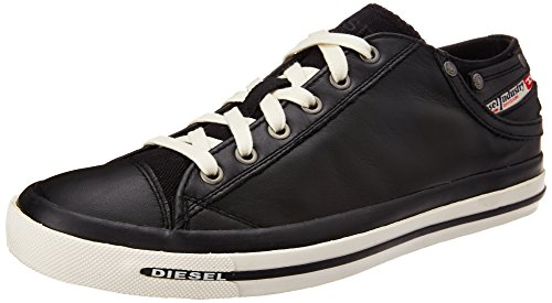 Diesel Herren Magnete Exposure Low I Sneaker, Schwarz (Black), 43 EU (Side Kurze Pocket)