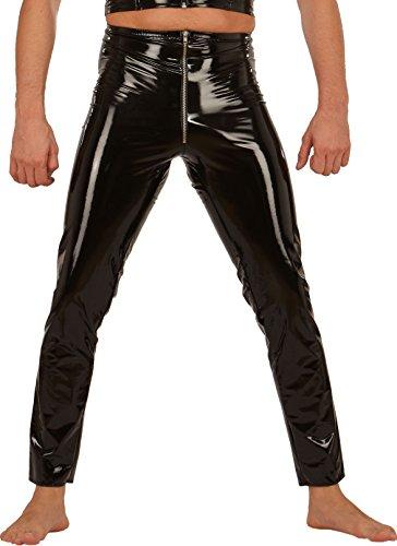 Preisvergleich Produktbild Ledapol 1431 Herren Gay Lack-Hose lang Reißverschluss, 50 schwarz