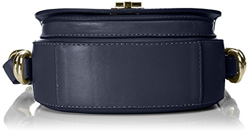 Tommy Hilfiger Th Twist Leather Mini Crossover, Sac bandoulière Bleu (Tommy Navy)