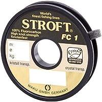 Waku Stroft FC1–Hilo de Pescar de fluorocarbono, 25m, Unisex, 0,140mm-1,9kg