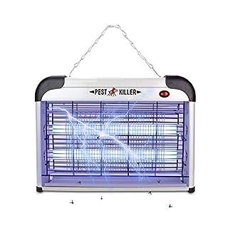 MaxKare Bye Bug Zapper UV Light Attract, Silver, Middle