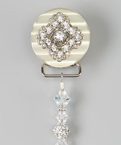 Preisvergleich Produktbild Crystal Dream Luxus-Rosa Swarovski Kristallen und Shamballa Perlen Funkelnd Baby Mädchen Andenken Schnuller Clip (cshw)