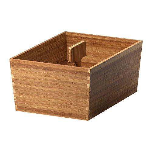 IKEA VARIERA Kasten mit Griff; aus Bambus; (33x24cm)